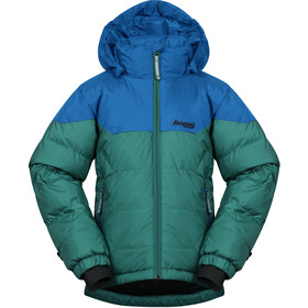 Bergans Ruffen Donsjas Kinderen, greenlake/strong blue/navy